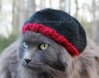 Beanie For Cats - Breaking Bad inspired - Jesse Pinkman Cat Hat - Warm Pet Hat - Winter Cat Hat