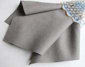 Smoke Grey Felt, Pure Merino Wool, Large Felt Sheet, Choose Size, Certified Safe, Nonwoven, Felt Square, Wool Applique, Stuffed Animals, DIY