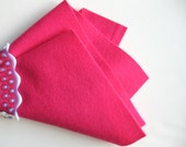 Flamingo Pink, Wool Felt Fabric, 100% Wool, Choose Size, Wool Felt Fabric, Felt Sheet, Large Felt Square, DIY Craft Supply, Pink Felt Sheet