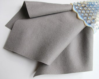 Smoke Grey Felt, Wool Felt, Large Felt Sheet, 100% Merino, Nonwoven Fabric, Choose Size, Felt Square, 18 Inch Square, Yardage