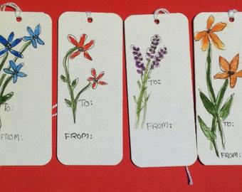 Original Watercolor Gift Tags (I)