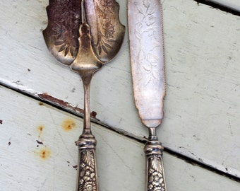 Pairpoint GARLAND Serving Set Silverplated Hollow Handle