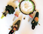 Baby Mobile --- Children of the Forest with Toadstools --- Made to Order