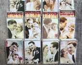 50 Custom Matchbox Wedding Favors- Vintage Style- 1920s Wedding