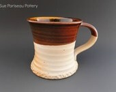 Rootbeer Brown Textured Woodfired Mug/Cup