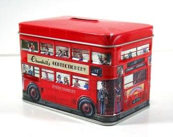 Tin Bank - London Double-Decker Red Bus, Churchills