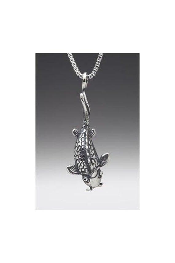 Koi Fish Necklace Silver - Koi Fish Charm Koi Fish Pendant - Koi Fish Jewelry - Silver Koi Fish - Fish Necklace Fish Charm Fish Jewelry