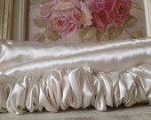 Creamy Oyster Pearl VELCRO END To END- Paris Apt - Satin Chandelier or Cord Cover - Lighting Decor - Paris - French