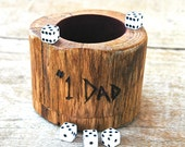 """Personalized wood dice cup - """"#1 DAD"""""""