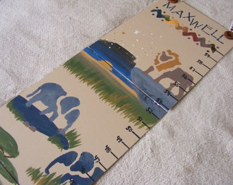 Foldable Children's Growth Chart, Safari Theme