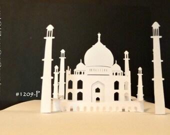 Taj Mahal Printable PATTERN Pop-Up Card -Make your own -180 degrees-ITEM 1209-P DIY Digital Download