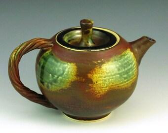 Handmade Stoneware Teapot with Ash Glaze