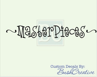 Masterpieces Childrens Art Display Wall Decal - Playroom Wall Art- Playroom Decal - Kids Art Wall - Family Art Display 082