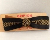 Vintage Dead Stock Yellow and Black Bowtie