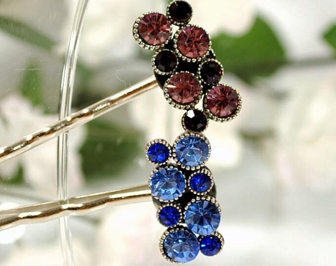 Hair Pin Blue Crystal Bobby Pin Womens Hair Clip Small Hair Pin