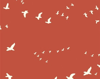 Birch Organic Canvas, Flight, Paprika by the yard