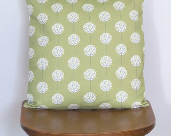Olive Green Moonlight Tree decorative pillow sham cushion cover