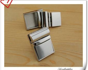 Nickel Purse lock /clutch lock /latch lock / latch/ clutch purse lock / tongue lock 28mm x 38mm (1.25 inch x 1.5 inch ) N10