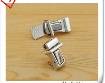 Nickel clutch lock /latch lock / latch/ clutch purse lock / tongue lock /Purse lock / 20mm x 35mm (3/4 inch x 1 3/8 inch ) N41