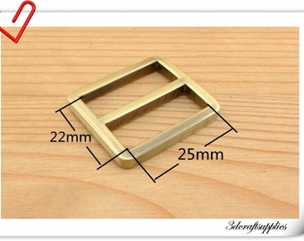 1 inch (inner diameter) Antique Brass Brush alloying rectangle sliders strap adjuster  10pcs 3mm thickness U74