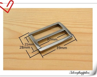 1.25(1 1/4) inch (inner size) Gunmetal  alloying rectangle sliders strap adjuster  10pcs 3mm thickness U13