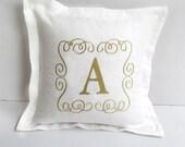 custom made monogram pillow 16 inch letter pillow cus