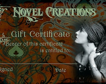 100.00 Gift Certificate for Items in THIS Shop