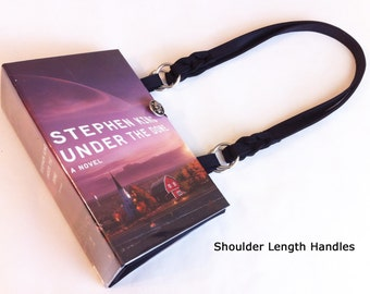 Under The Dome Recycled Book Purse - Stephen King Book Cover Bag