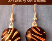 Tiger - Dichroic Glass Earrings