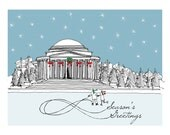 Reserved for Katelyn - set of 70 Washington DC Jefferson Memorial Christmas Cards