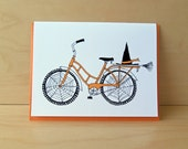 Halloween Card - Witch Bike
