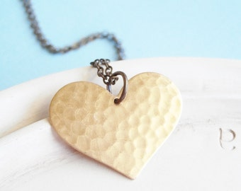 Heart Necklace - Golden Heart Necklace