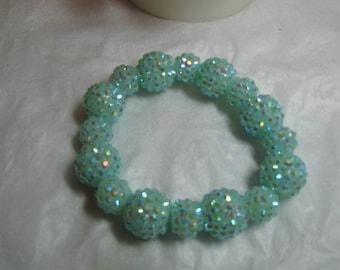 Basketball Wives Inspired Sky Blue Sparkle/Bling  Strech Bracelet