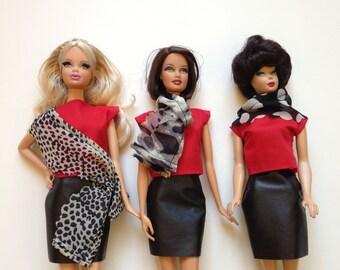 Handmade Barbie Clothes Scarfs (SS1803, SS1801, SS1805)