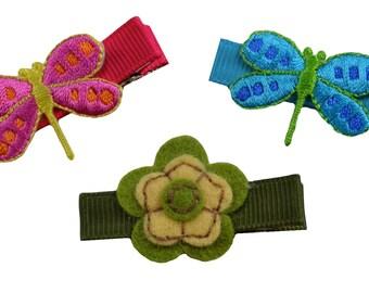 Baby Dragonfly Children's Hair Clip Set