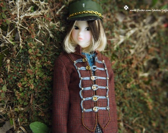jiajiadoll red and blue court style coat jaclet -for momoko or misaki or Blythe
