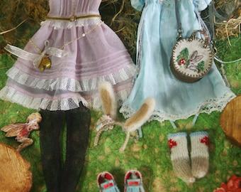 Jiajia Doll limited Rabbit Set - 8 Piece of full set fit momoko or misaki or blythe