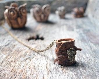 Old OWL MiniatureBook Necklace