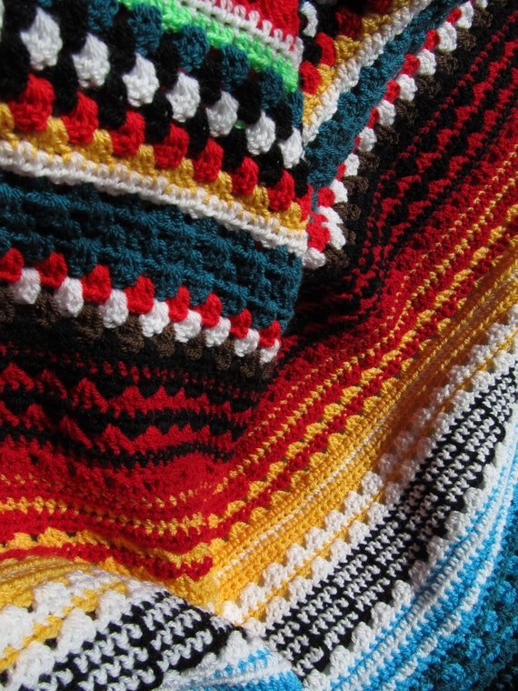 Crochet Afghan Patterns Stripes : Handmade Spark - - Blanket: crochet blanket pattern ...