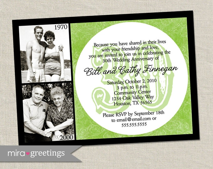 30th Anniversary Invitation - Printable Digital File