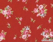 Japanese, Lecien, Flower Sugar, Fall 2011, Rose Bouquet in Red 30363.30 - 1/2 Yard