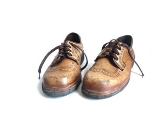 HECKEL French Vintage Safety Footwear / Leather Oxford
