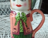 "Decoratvie Mug/Vase ""Mary Mocha""  Susan Paley by Ganz"