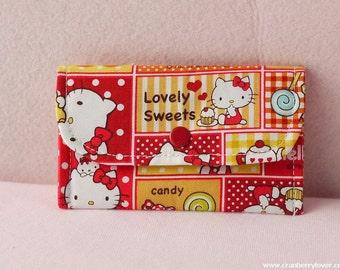 Hello Kitty Mini Snap Wallet (Red)