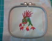 Murloc Inspired Machine Embroidery Design- 4X4- Instant Download