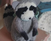 Sweet pompom baby Raccoon  featured in Adventures in Pompom Land Craft Book