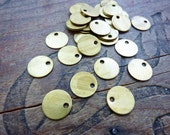 Brass Disc Tag Stampings Vintage (10)