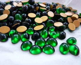 Vintage Swarovski 8x6 Oval Emerald Glass Rhinestone (6)