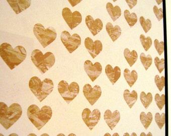 Hearts ..Magnetic Dry Erase Memo Board / Desk / Housewarming Gift / Coworker Gift / Office Decor / Organization / Message Board / Memo