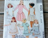 McCalls pattern 4020 Girls Dresses Size 8-12